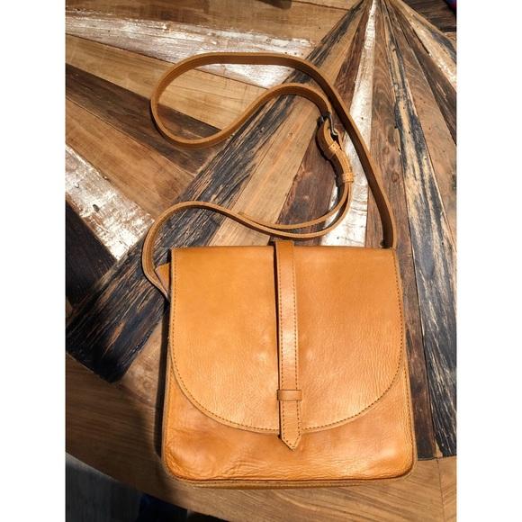 2d523a88c405 ABLE Tan Leather crossbody purse